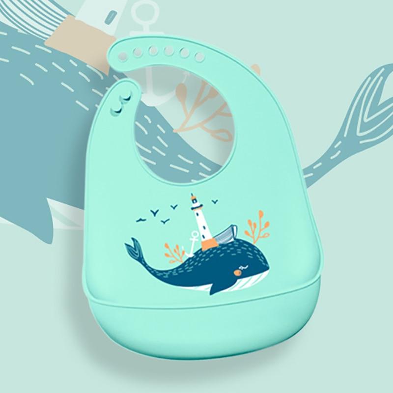 Let'S-Make-1pc-Silicone-Bibs-For-Kids-Newborn-Baby-Feeding-Tableware-Waterproff-Baby-Bibs-For-Toddler-Breakfast-Feedings